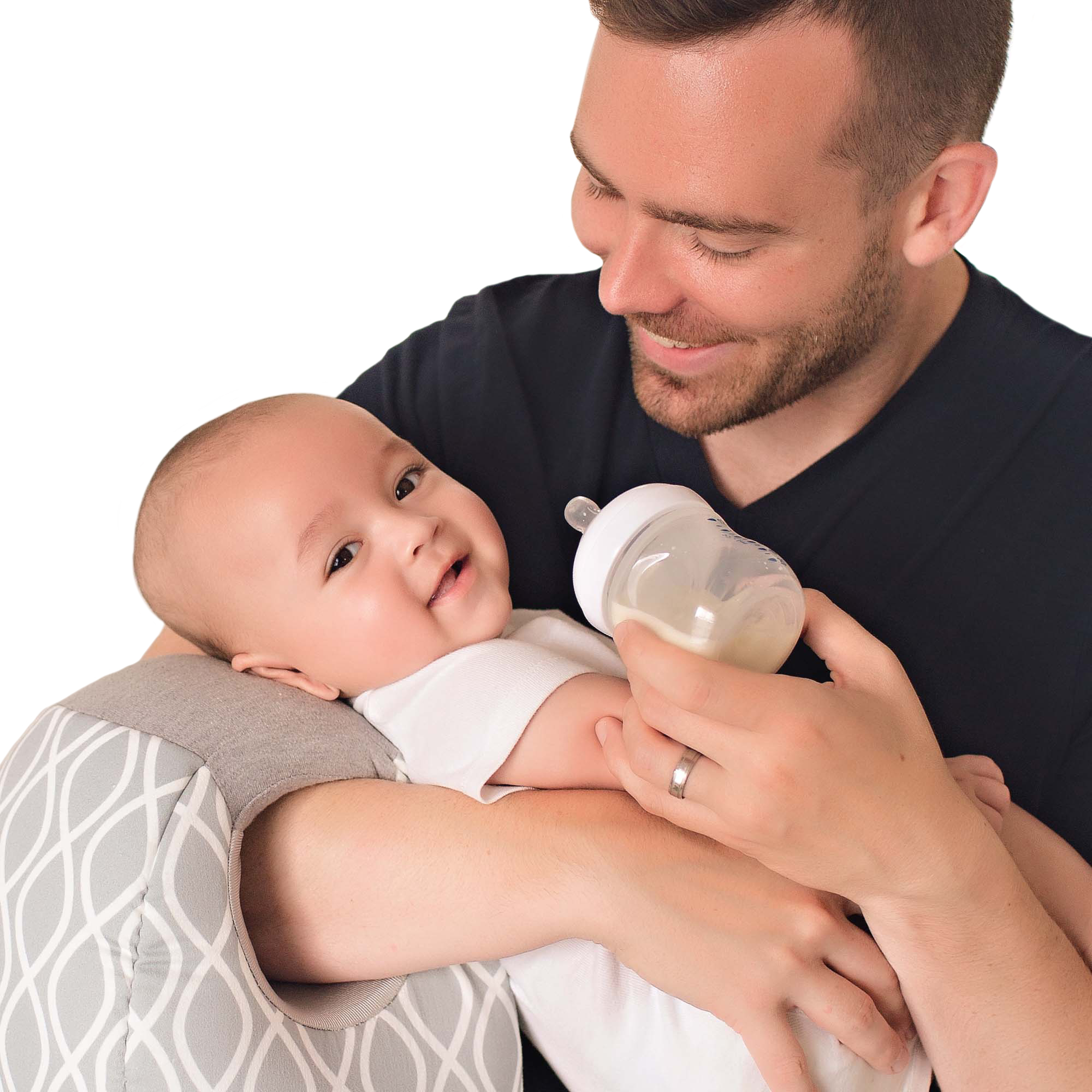 itzy ritzy milk boss infant breastfeeding and bottle feeding support pillow