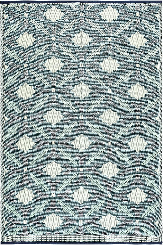 lightweight indoor outdoor reversible plastic area rug 5x7 feet florida blue