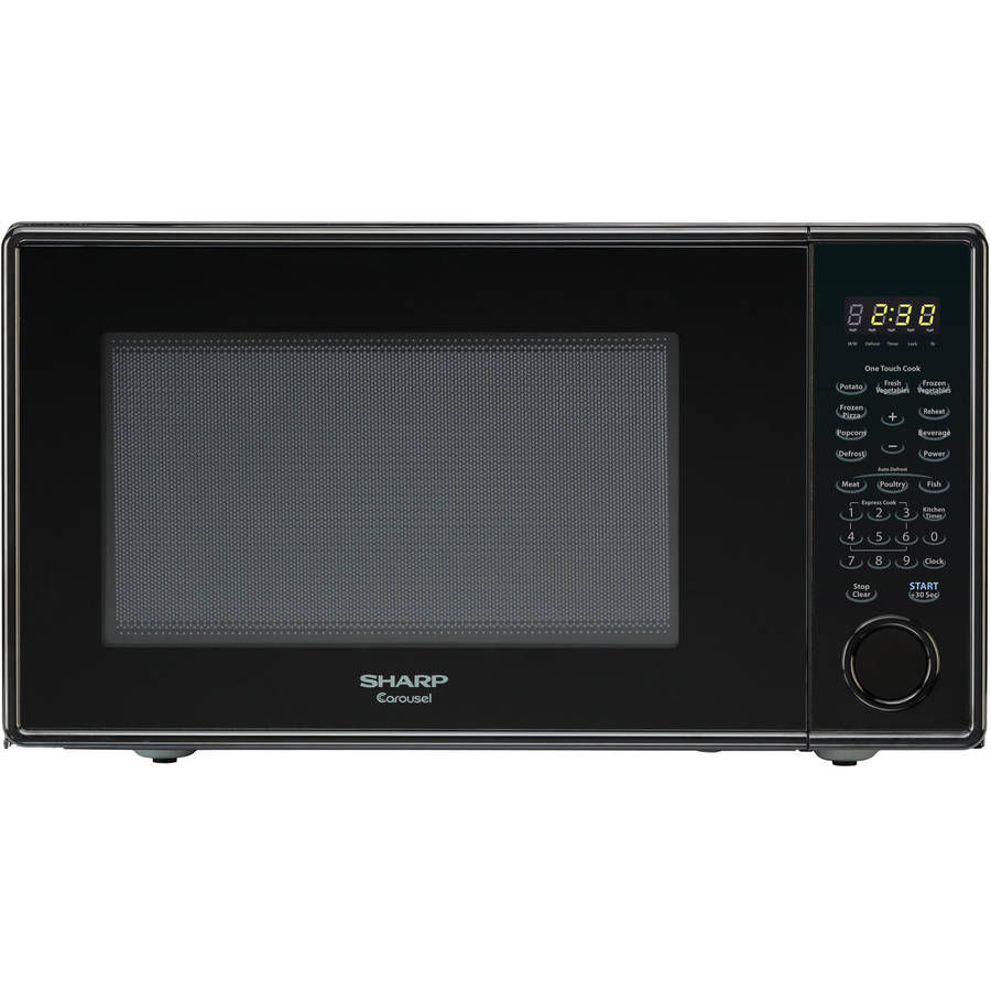 sharp carousel 1 3 cu ft black microwave walmart com