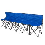 Best Choice Products 6 Seat Portable Folding Bench For Camping Sports Sideline W Steel Tube Frame Carry Case Blue Walmart Com Walmart Com