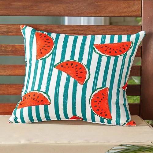 indoor outdoor summer fun pillows watermelon
