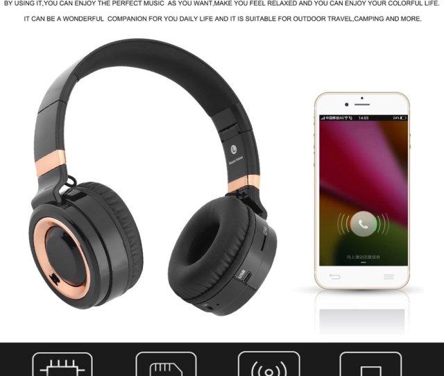 Soundintone Over Ear Wireles S Bluetoot H Headphone Foldable Music Headset Walmart Com
