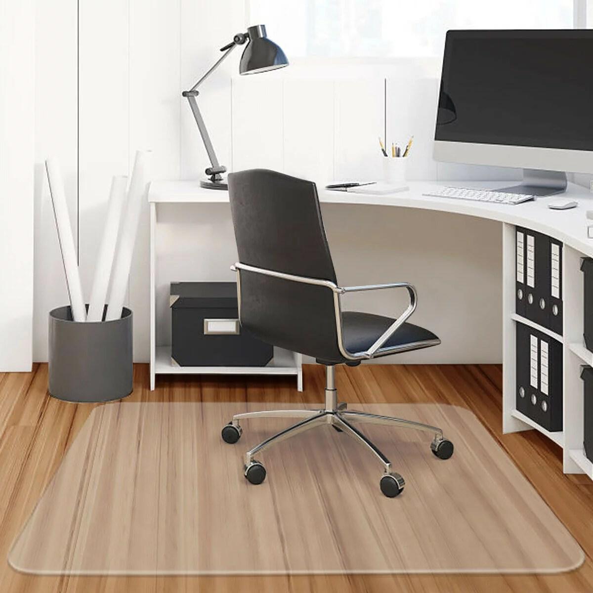 costway tapis de chaise tapis protege sol tapis de protection pour bureau avec surface antiderapante en pvc 120 x 120 x 0 15 cm