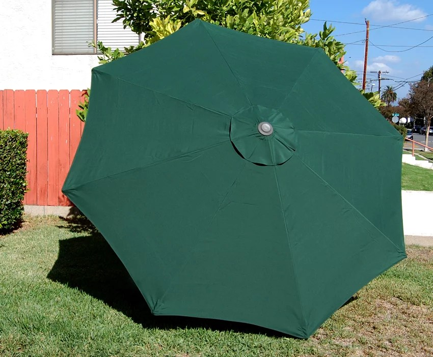 bellrino decor replacement strong thick umbrella canopy for 7 5 ft 6 ribs canopy only green
