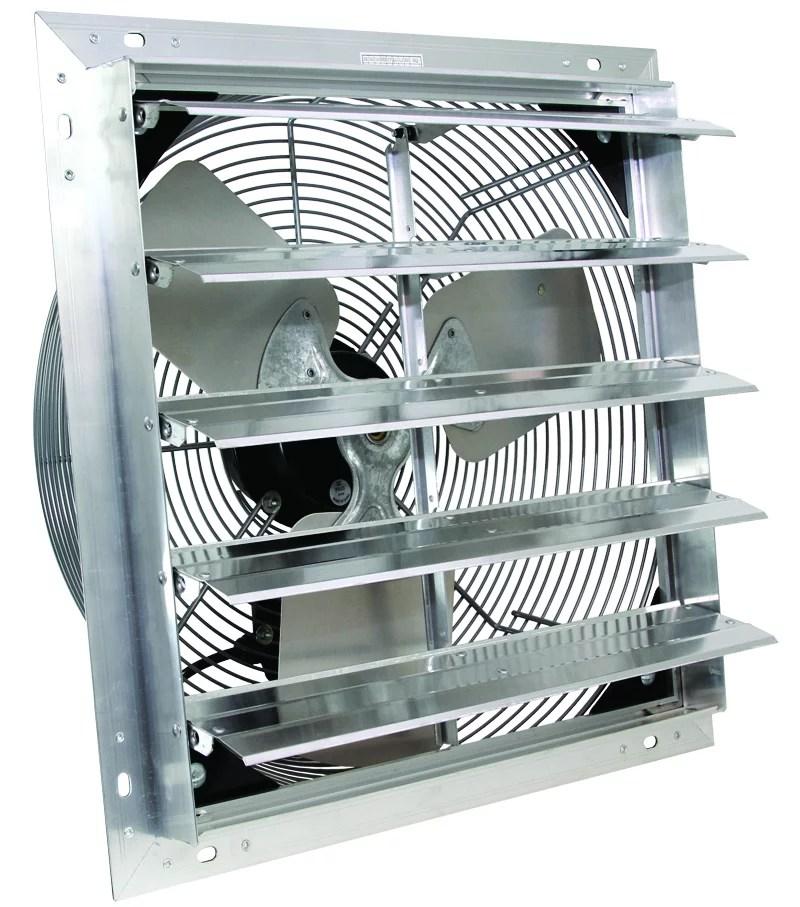 speed wall mount exhaust shutter fan