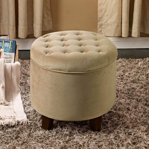 homepop tufted round ottoman with storage multiple colors