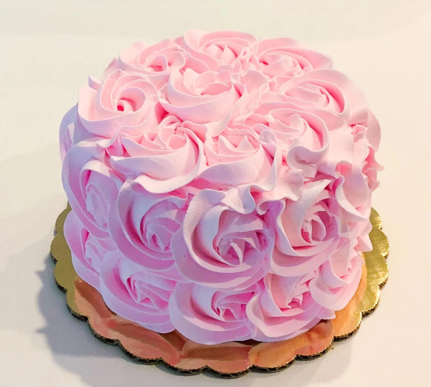 Fake Cake 6 Pretty Pink Rosette Cake Fake Unedible Prop Dezicakes Walmart Com Walmart Com