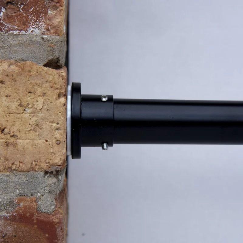 roomdividersnow premium tension curtain rod 120in 150in black
