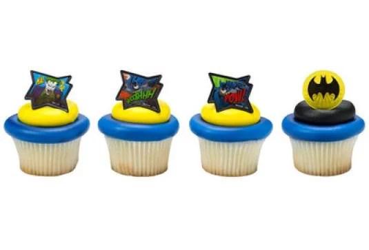 12 Batman Movie Cupcake Cake Rings Birthday Party Lego Favors Cake Toppers Walmart Com Walmart Com