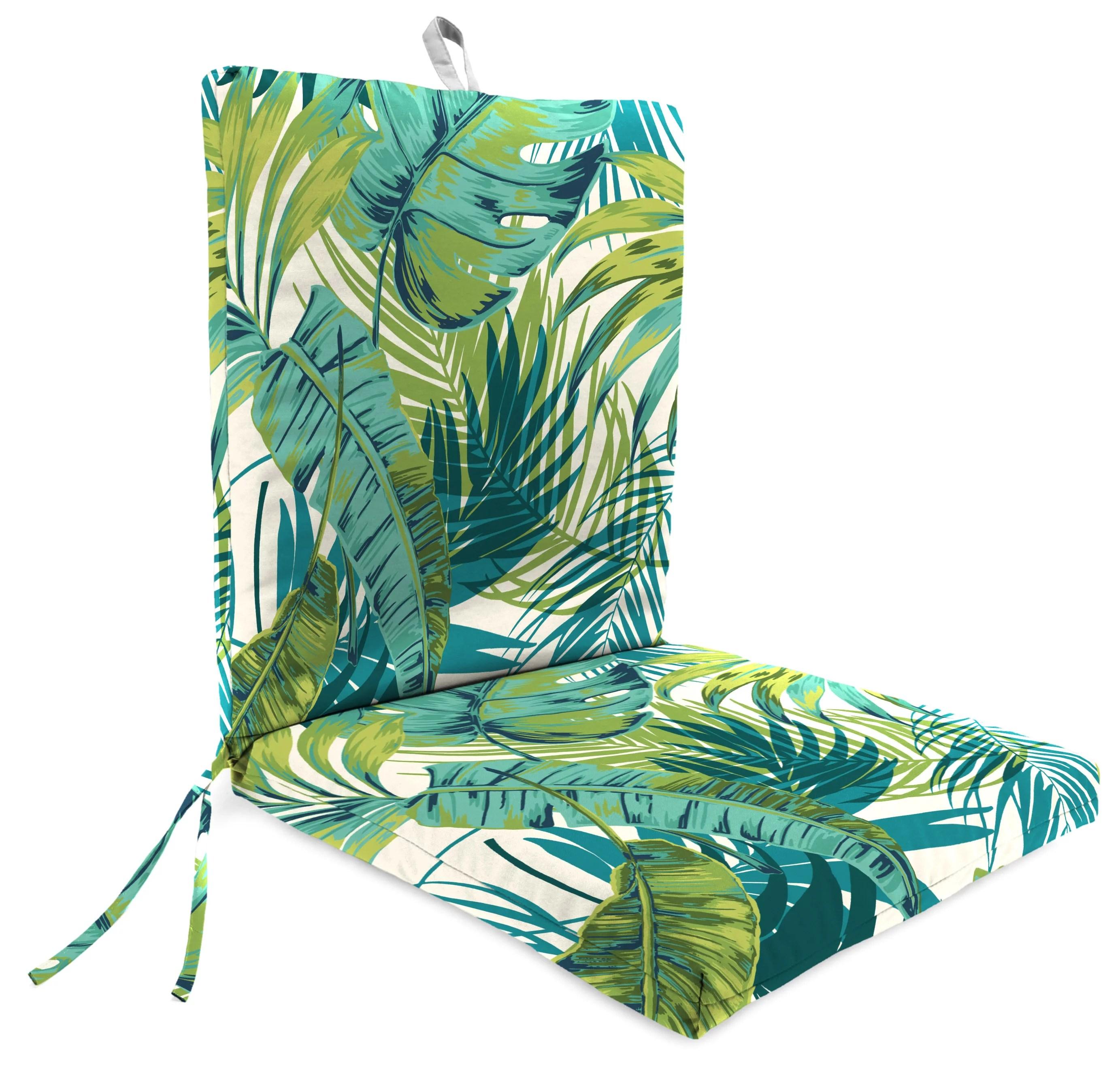 mainstays brand 43 x 20 torpical palm leaf outdoor chair cushion