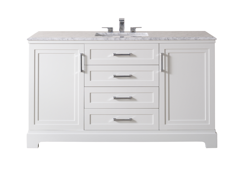 stufurhome idlewind 60 inch white single sink bathroom vanity walmart com