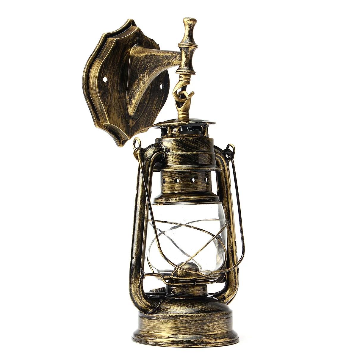 retro wall lighting sconce vintage exterior lantern antique fixture mounted lamp fixture loft lamp metal lampshade fixture fitting diy wall lights