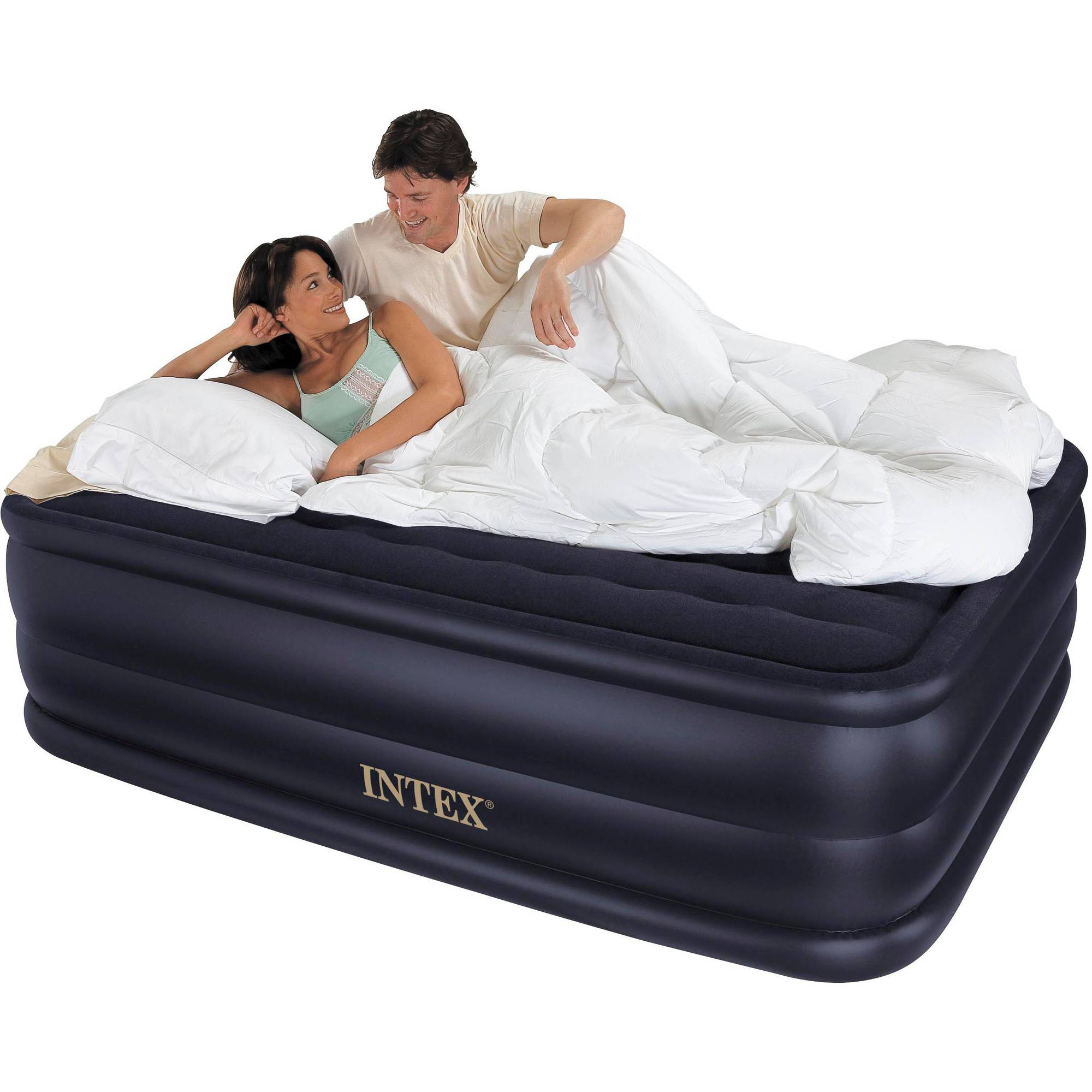 Intex Queen 22 Quot Raised Downy Airbed Mattress With Built In