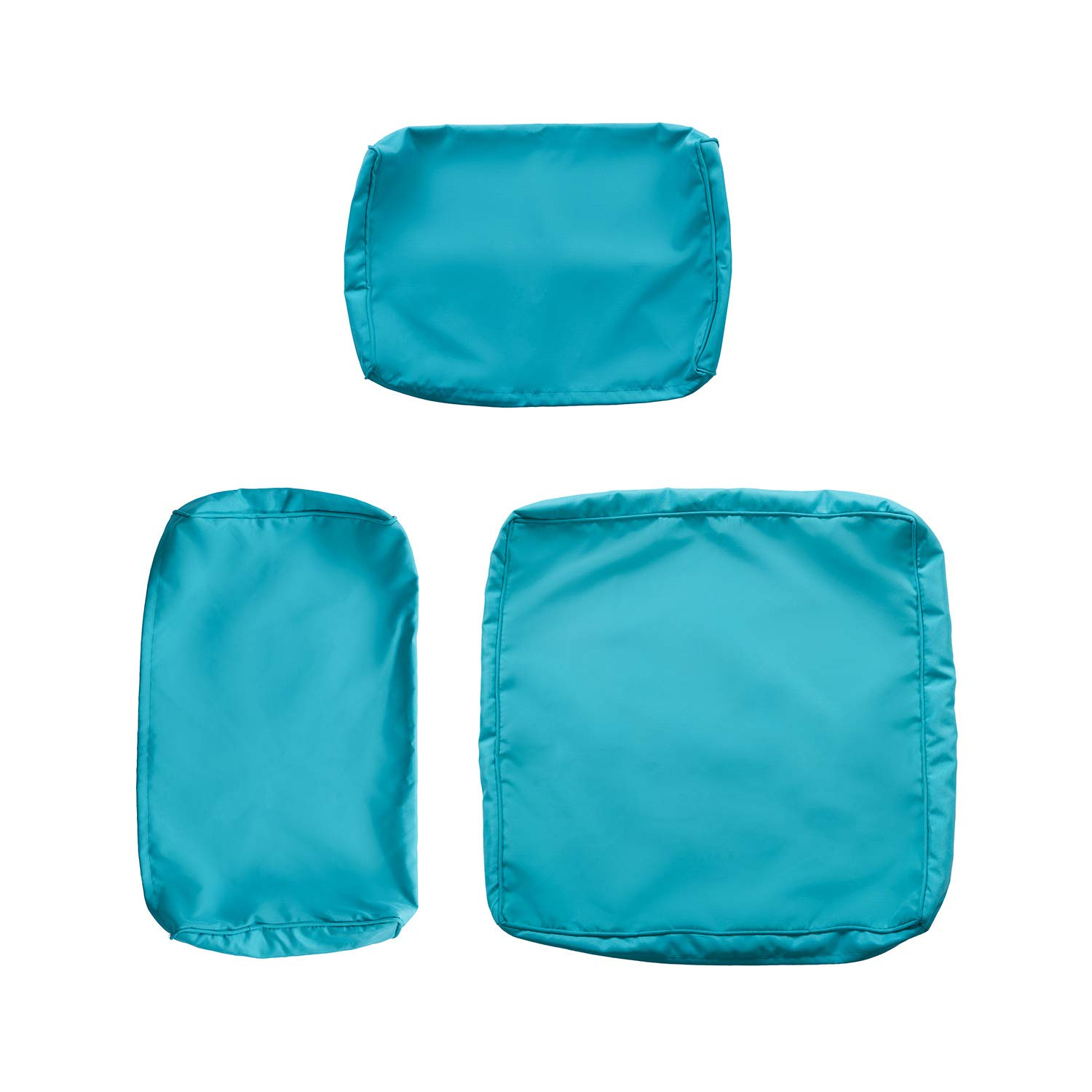 kinbor 7 pcs outdoor patio wicker sofa chair washable cushions pillow replacement covers for seat and back turquoise walmart com