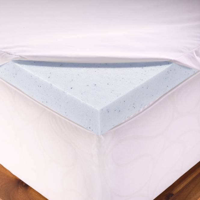 Authentic Comfort 2 Inch Fresh Gel Memory Foam Mattress Topper With Nano Tex Coolest Cover
