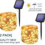 Solar Fairy Lights Outdoor Waterproof 2 Pack 200 Led 79 2ft Solar Powered String Lights Solar Copper Wire Lights Firefly Lights For Indoor Outdoor Yard Trees Christmas Wedding Party Decor Walmart Canada