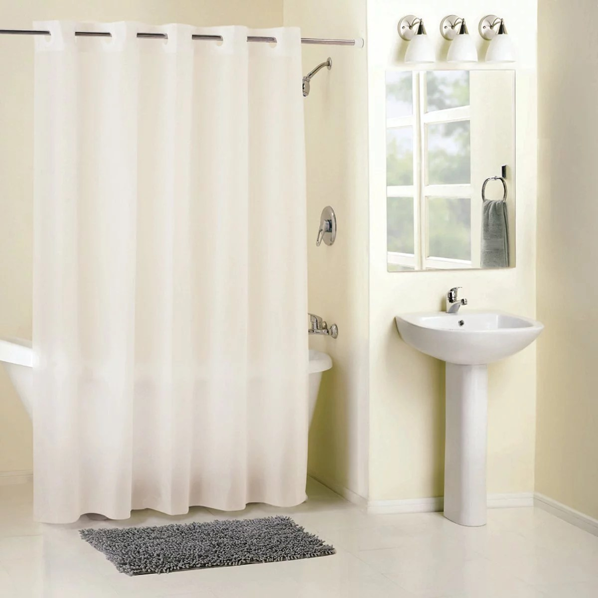 surefit 71 in x 74 in frost hookless shower curtain with liner rbh14fc844