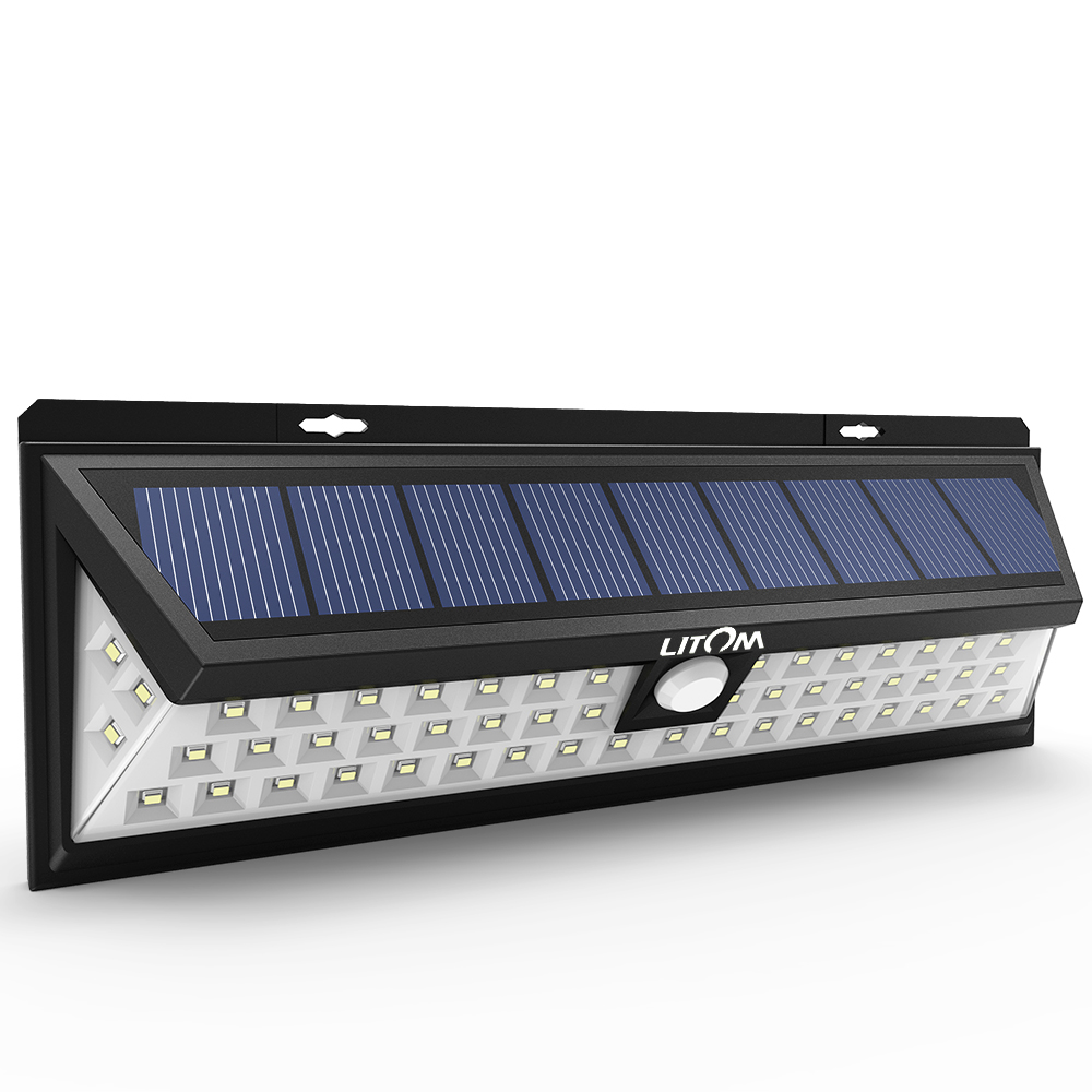 54 led solar lights outdoor waterproof solar power lights with 120 wide angle motion sensor solar for garden patio path lighting