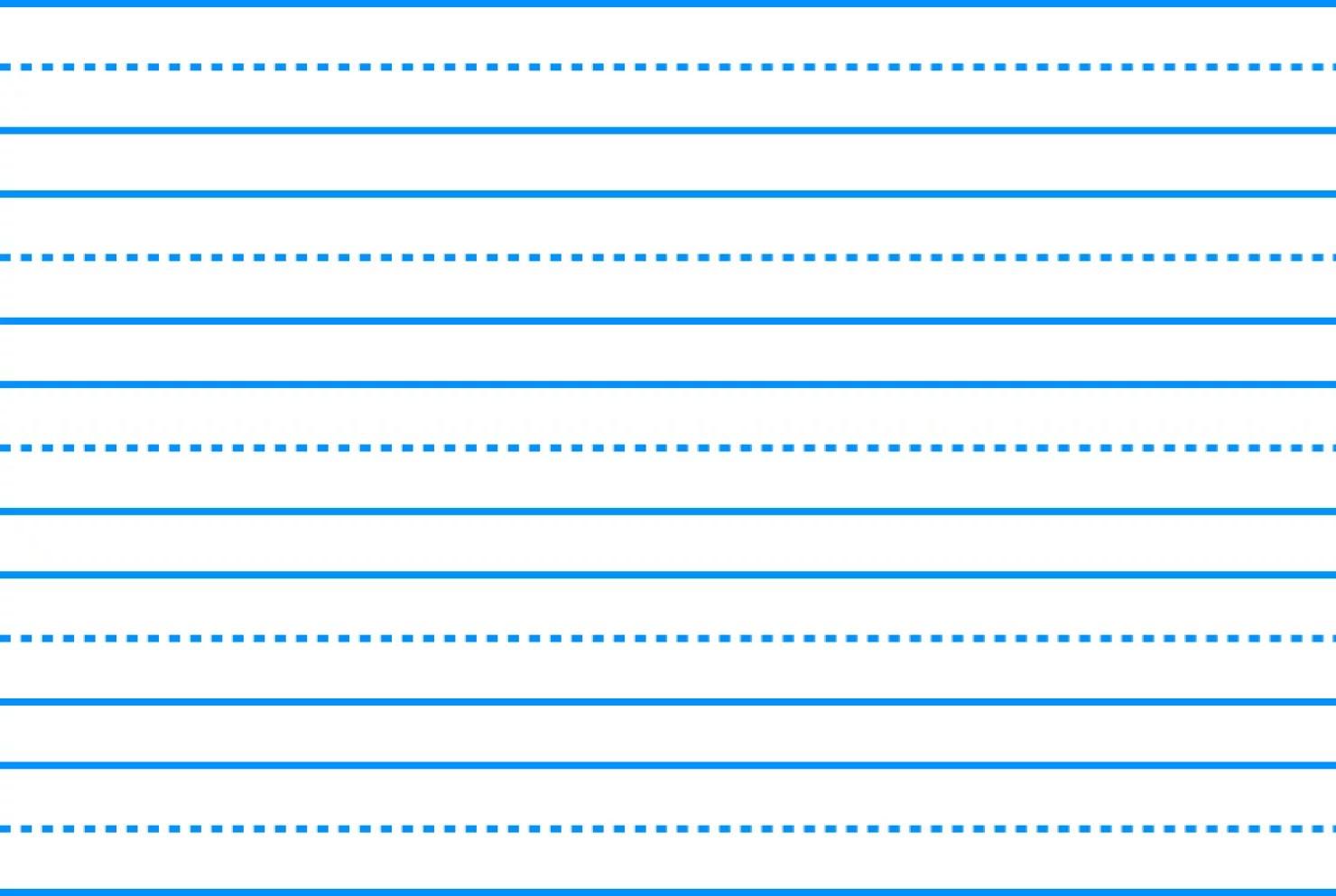 School Smart Sulphite Long Way Skip A Line Writing Paper