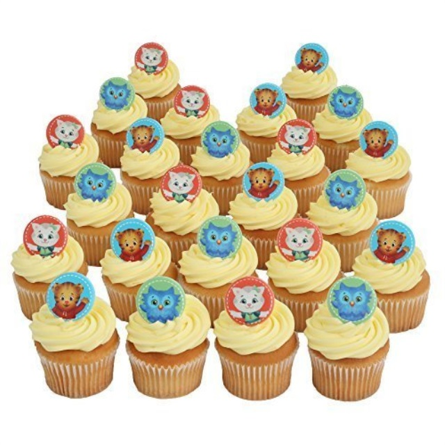 Daniel Tiger Officially Licensed 24 Cupcake Topper Rings By Bakery Crafts Walmart Com Walmart Com