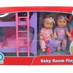 Kid Connection 16 Piece 8 Inch Mini Baby Doll Room Play Set Pink Purple Walmart Com Walmart Com