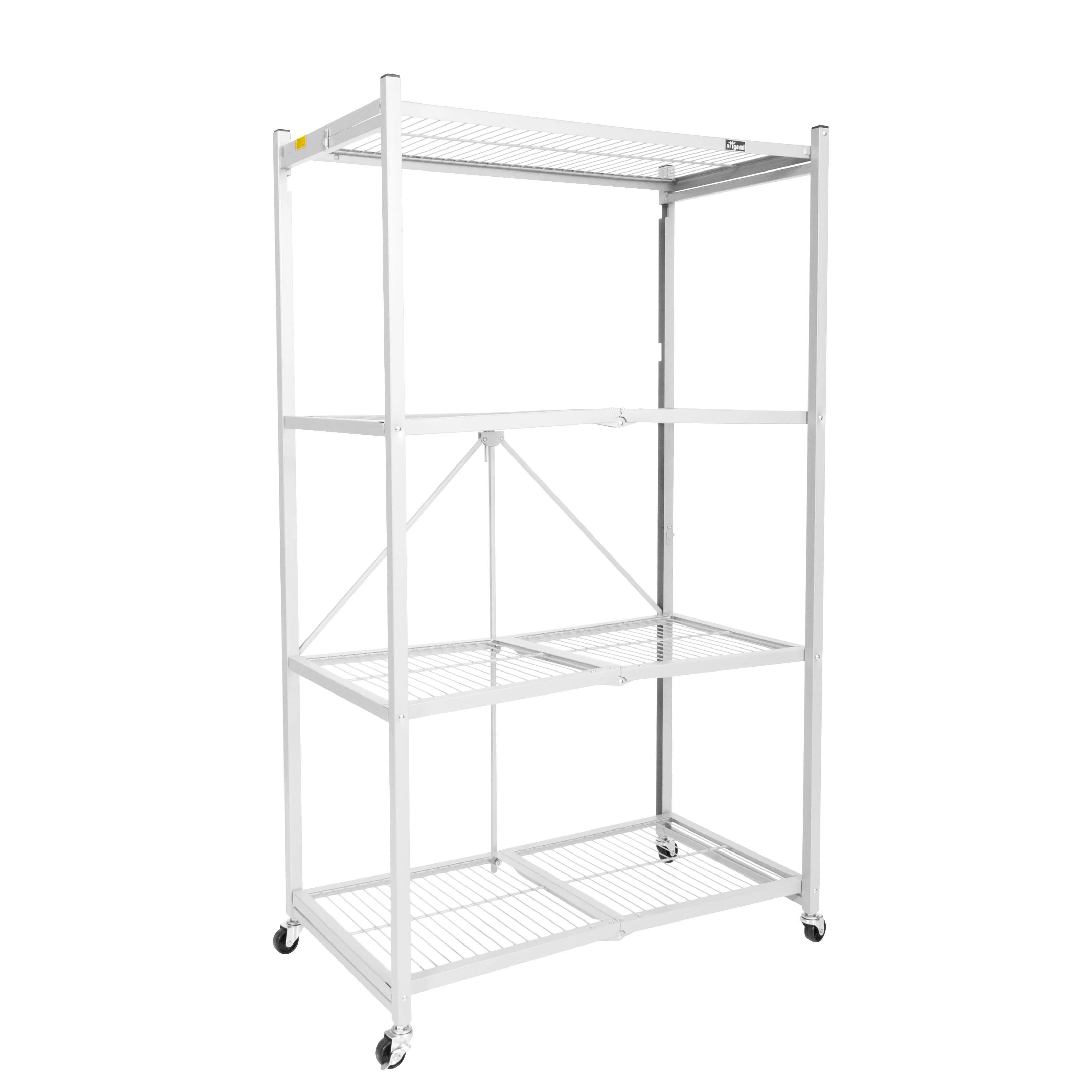 4 shelf folding steel wire shelving