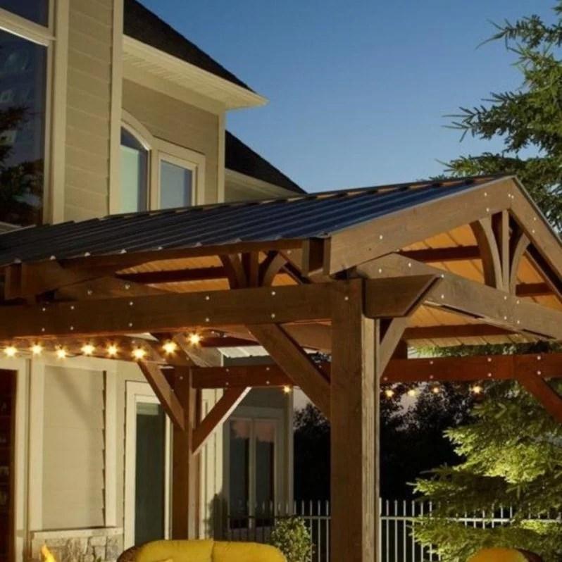 metal roof for lodge ii pergola