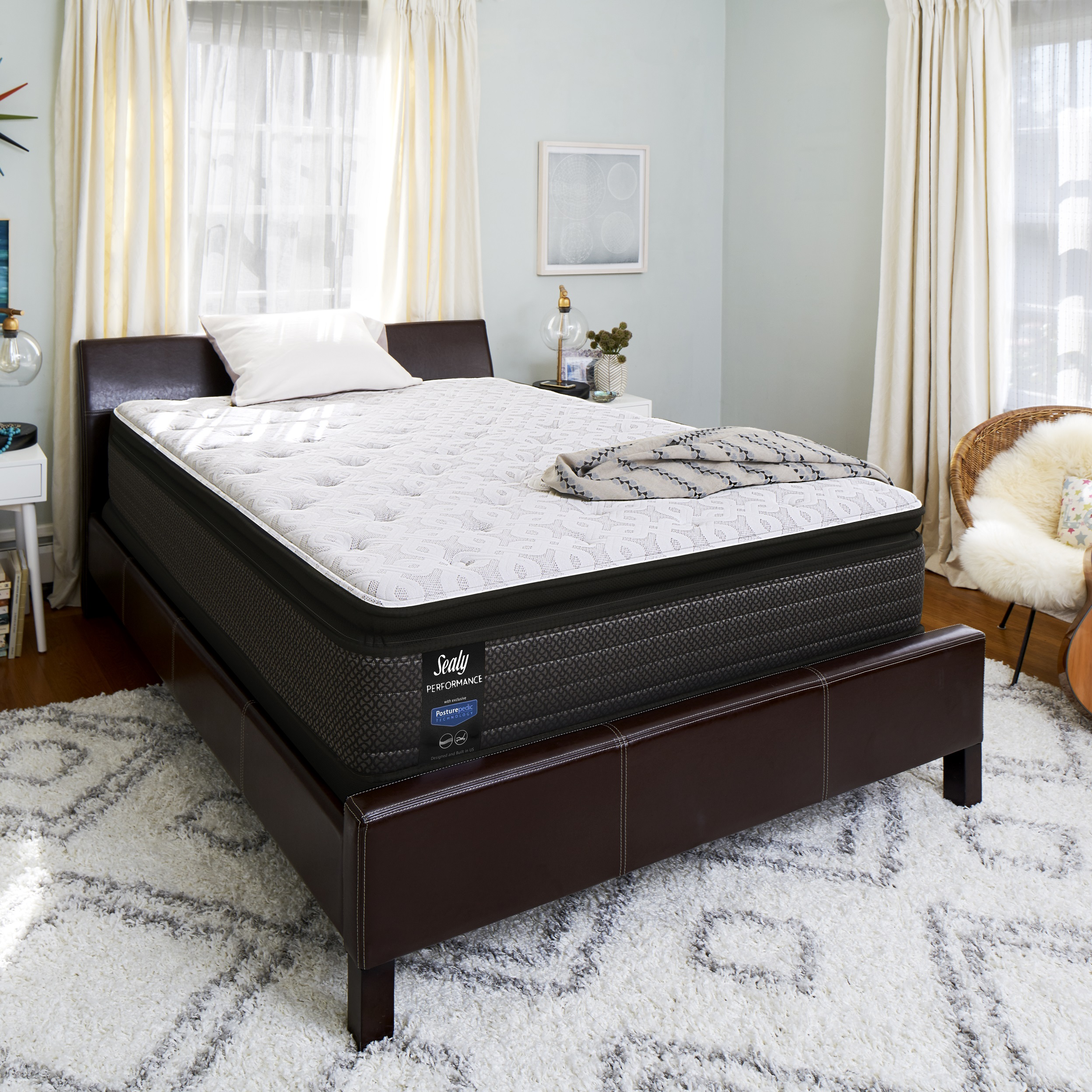 sealy response performance 13 5 plush euro pillow top mattress walmart com walmart com