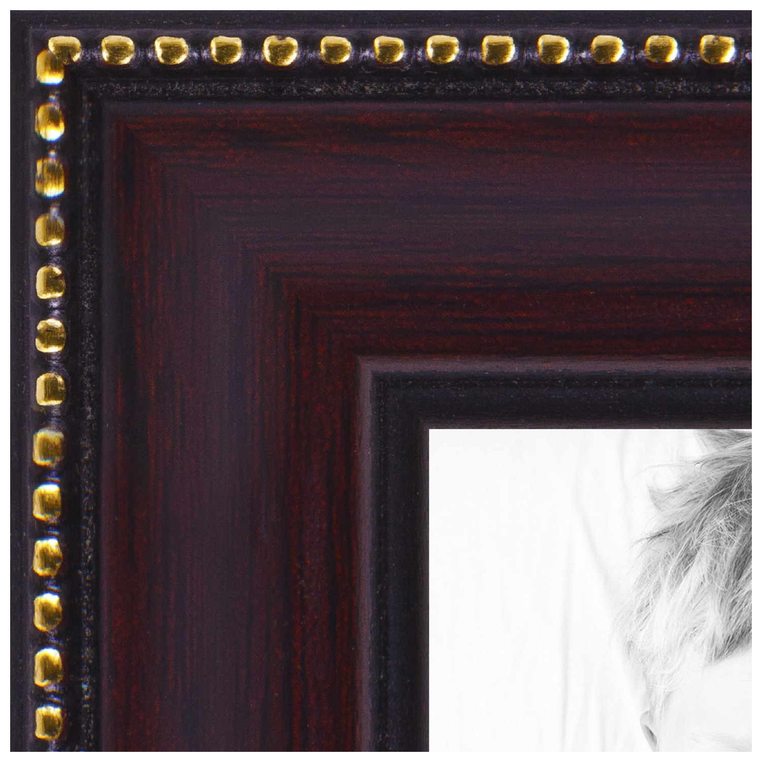 arttoframes 12x14 inch mahogany picture frame this brown wood poster frame is great for your art or photos comes with regular glass 4412