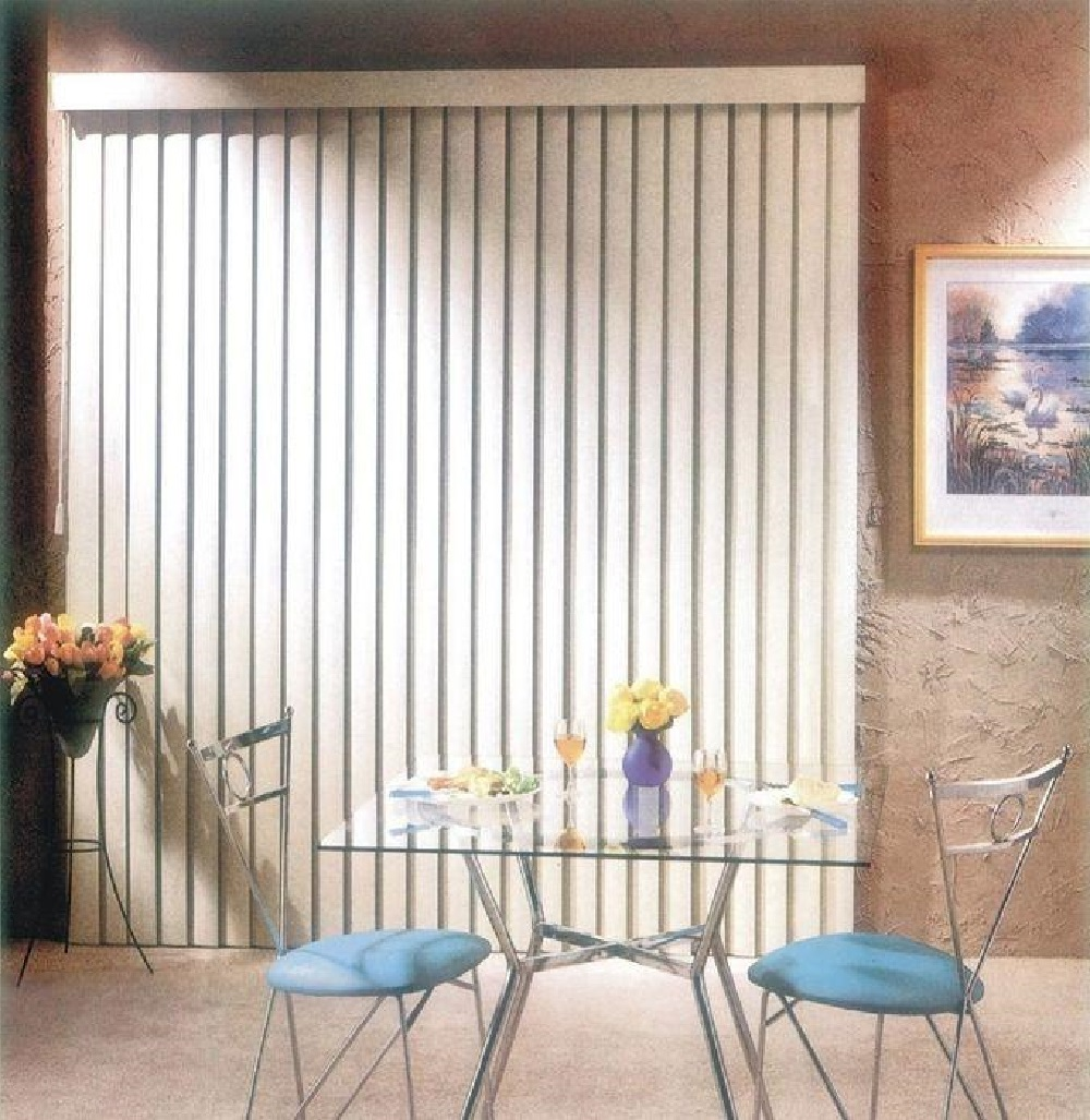 simple elegance by ben jonah patio door ribbed vertical blinds 104 w x 84 l white