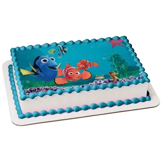 Finding Nemo Edible Image Photo 1 4 Quarter Sheet Cake Topper Personalized Custom Customized Birthday Party Abpid07344 Walmart Com Walmart Com