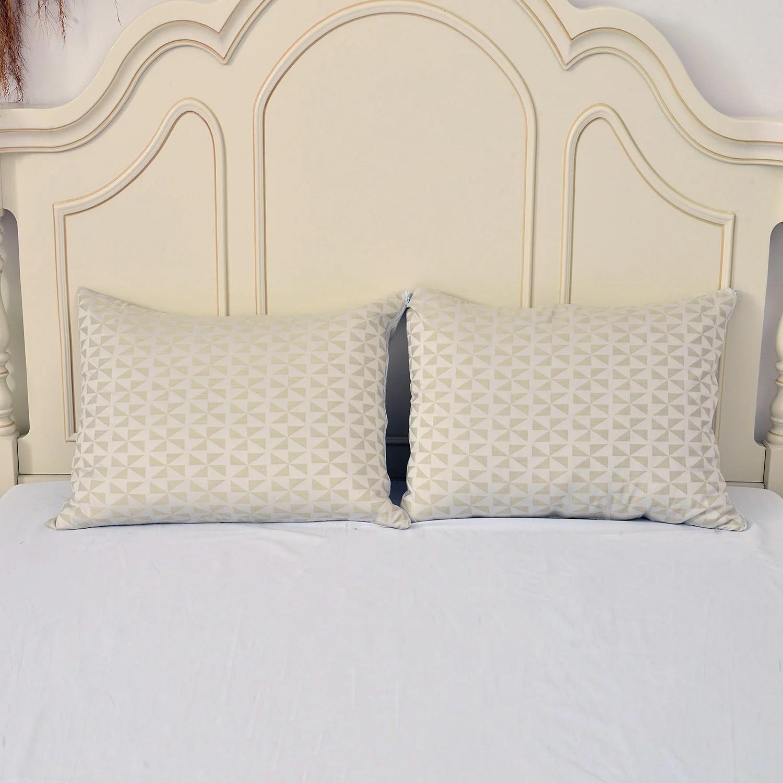 shop lc white cloud 9 skin revitalizing copper pillow case queen set of 2 infused fiber zipper closure improves blood circulation sofa fabric