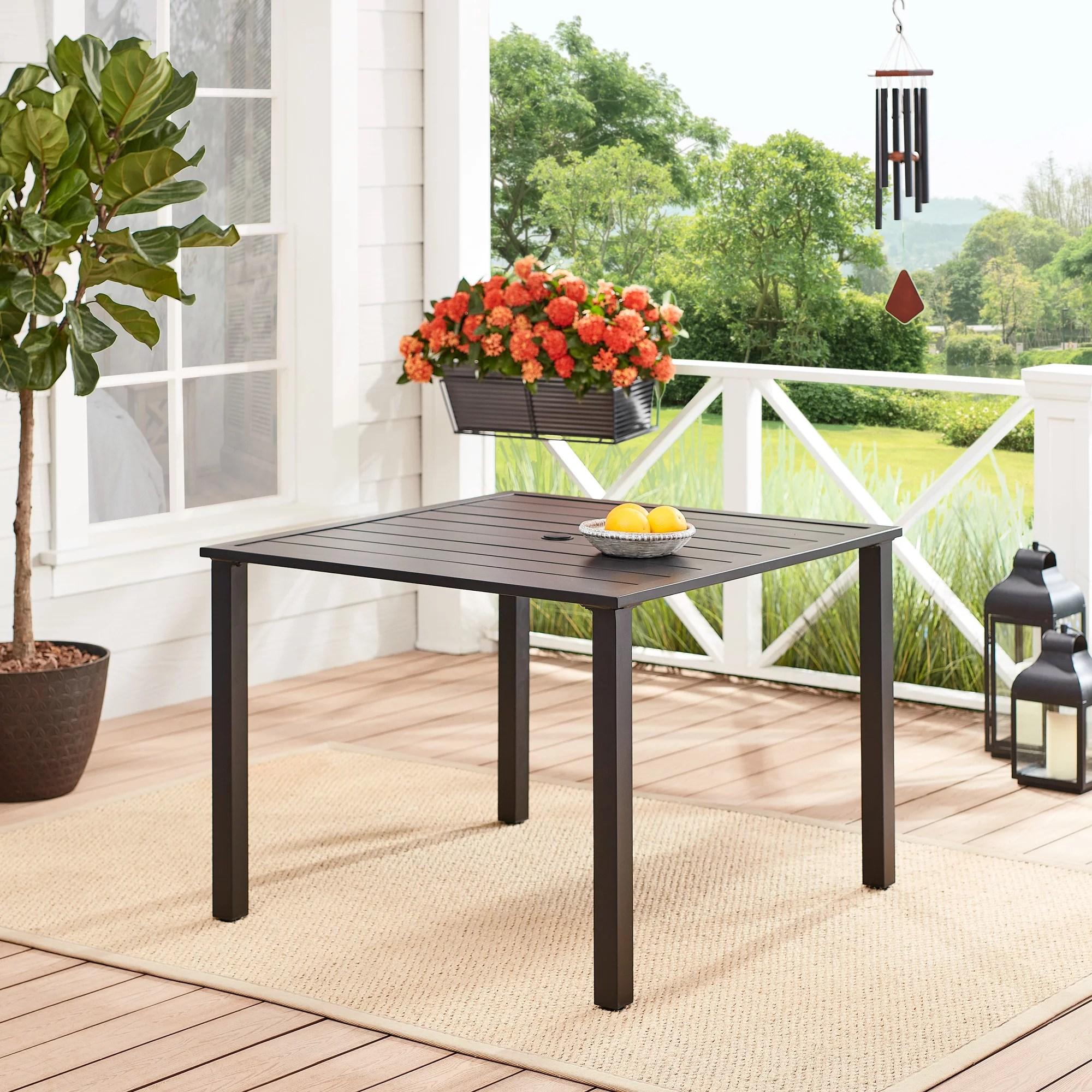 mainstays 38 square outdoor patio bistro table espresso