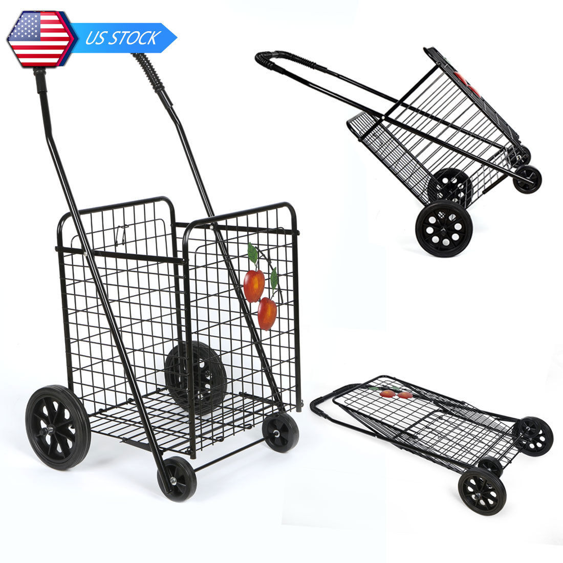 Folding Supermarket Shopping Trolley Shopping Cart With