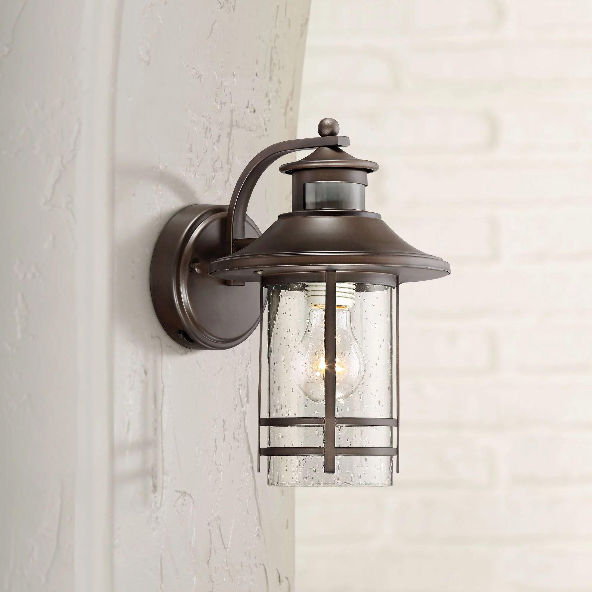 john timberland galt 11 1 4 high bronze motion sensor outdoor wall light