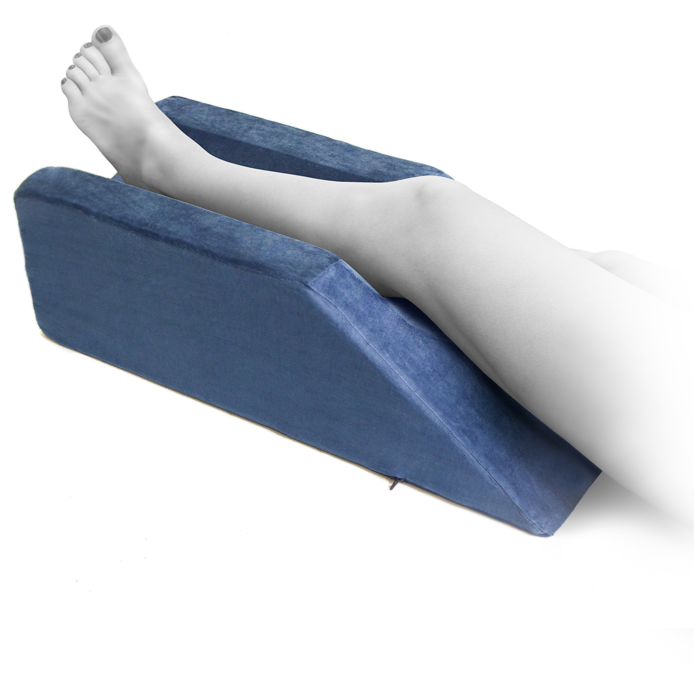milliard foam leg elevator cushion with washable cover support and elevation pillow for surgery injury or rest