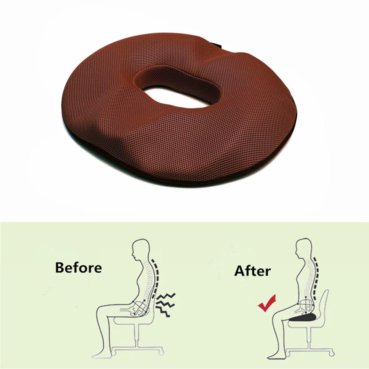 men hemorrhoid treatment donut tailbone cushion prostate pillow pregnancy post natal bed sores coccyx sciatica 18 inches premium comfort memory