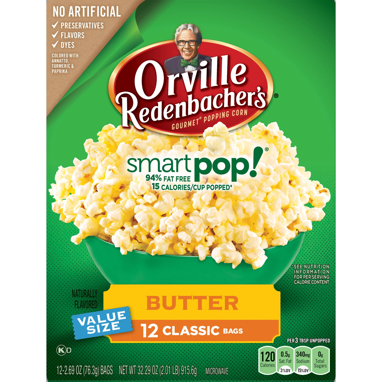 orville redenbacher s smartpop butter microwave popcorn 2 69 oz 12 ct
