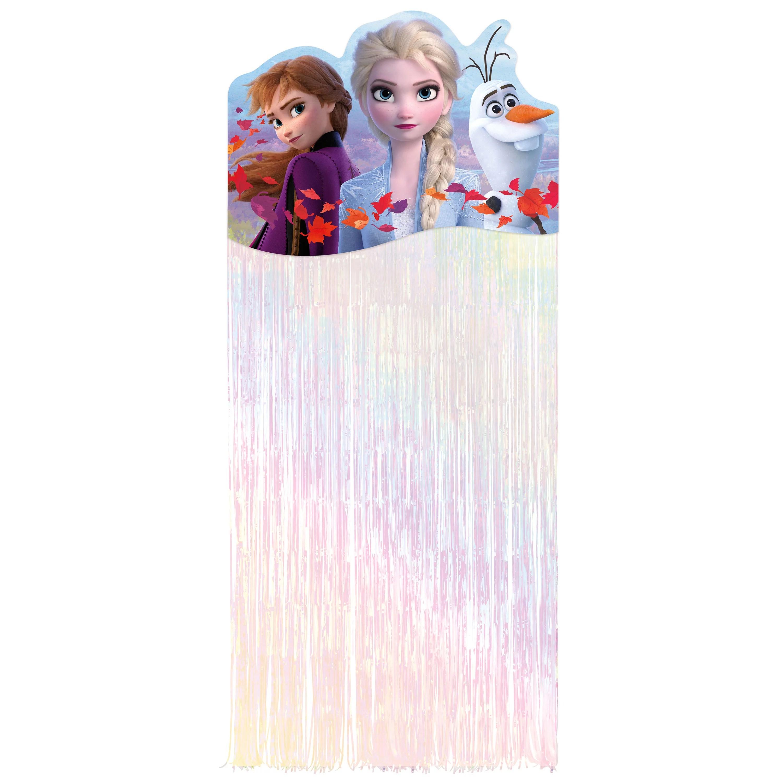 Disney Frozen 2 Birthday Fringe Door Curtain 5 75ft X 2 5ft Walmart Com Walmart Com