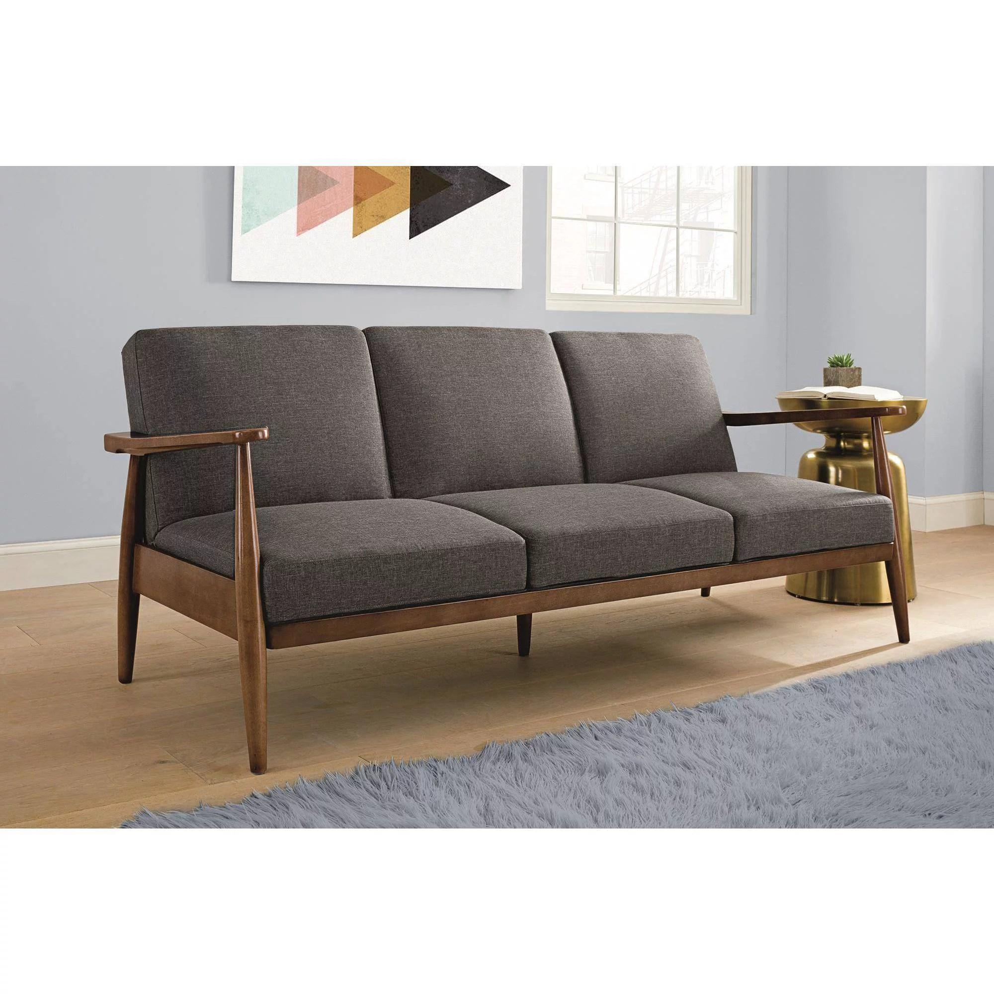 Better Homes And Gardens Flynn Mid Century Sofa Bed Multiple Colors Walmart Com Walmart Com
