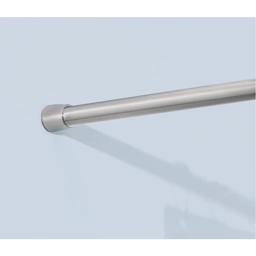 interdesign stainless steel shower curtain tension rod