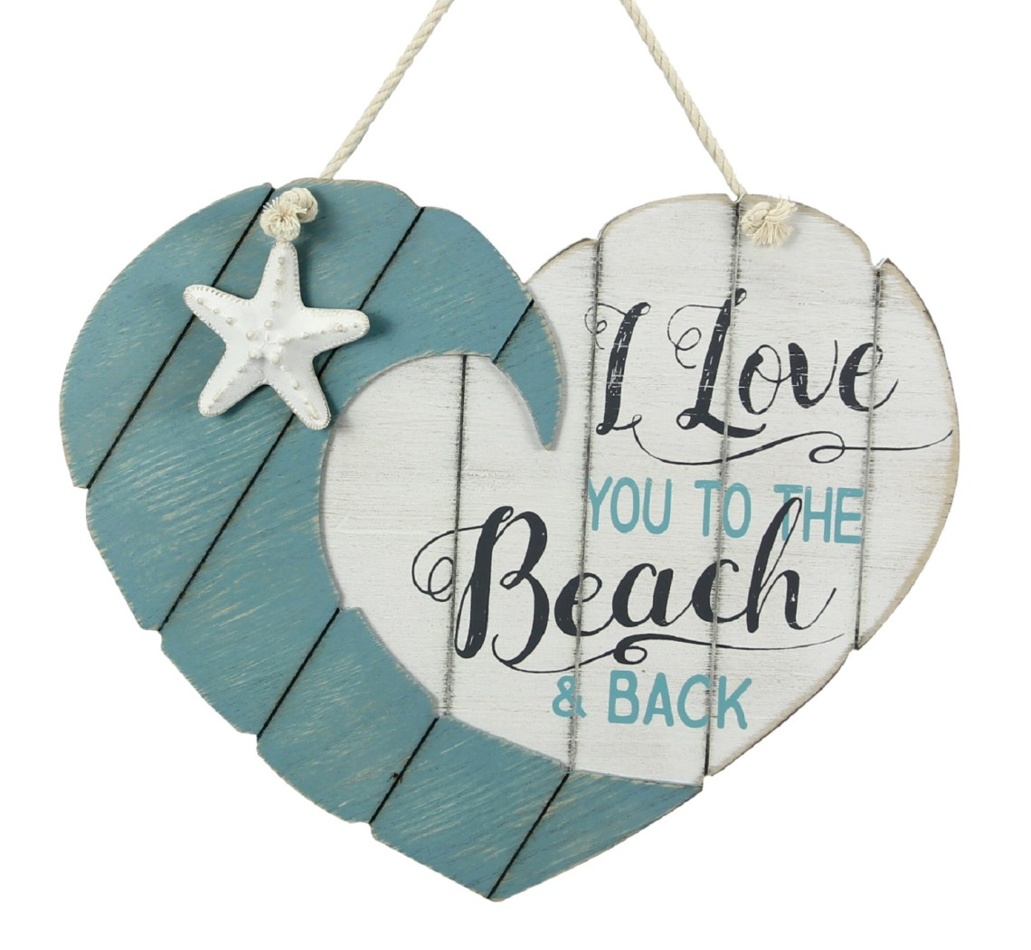 Download Love You to the Beach and Back Heart Shaped Wood Wall ...