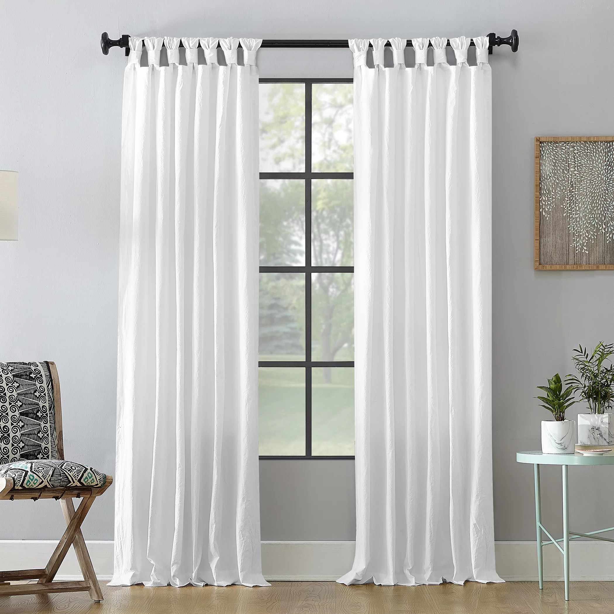 archaeo washed cotton twist tab curtain