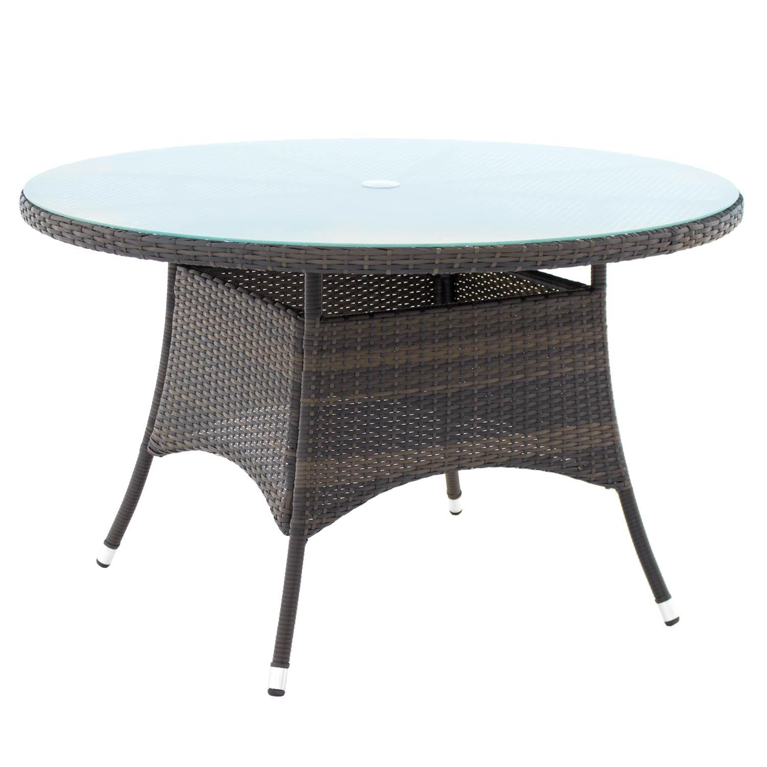gentilly 48 inch round wicker patio dining table by lakeview outdoor designs walmart com