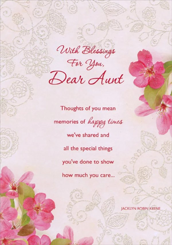 Designer Greetings Memories Of Happy Times Flowers And Vines Inspirational Religious Birthday Card For Aunt Walmart Com Walmart Com
