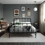 Mainstays Farmhouse Metal Bed Full Size Bed Frame Black Walmart Com Walmart Com