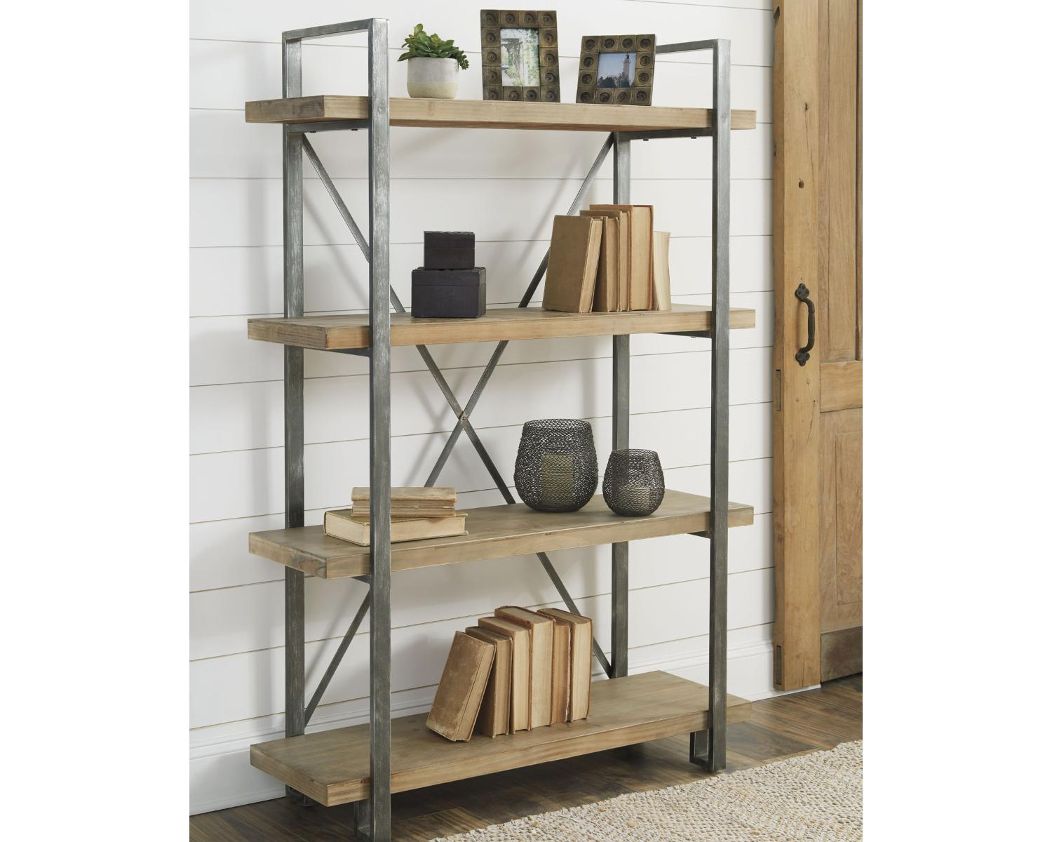 signature design by ashley brown black forestmin bookcase