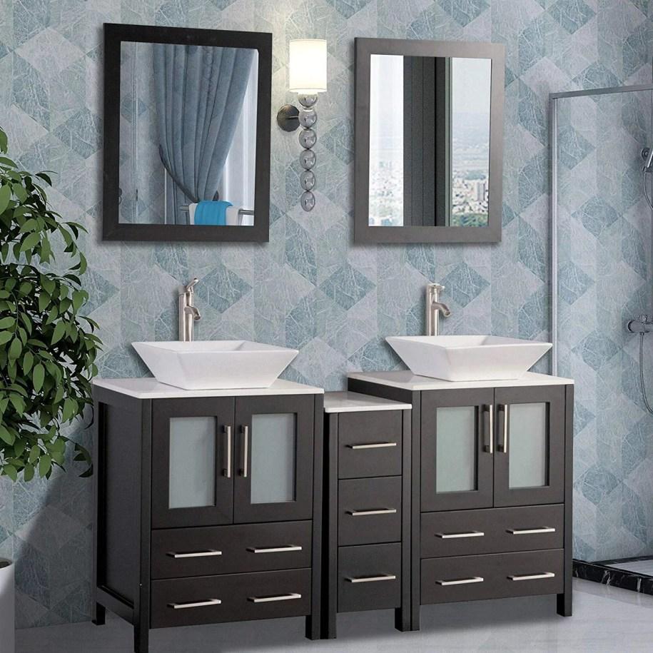 Vanity Art 60 Inch Double Sink Bathroom Vanity Combo Set ...