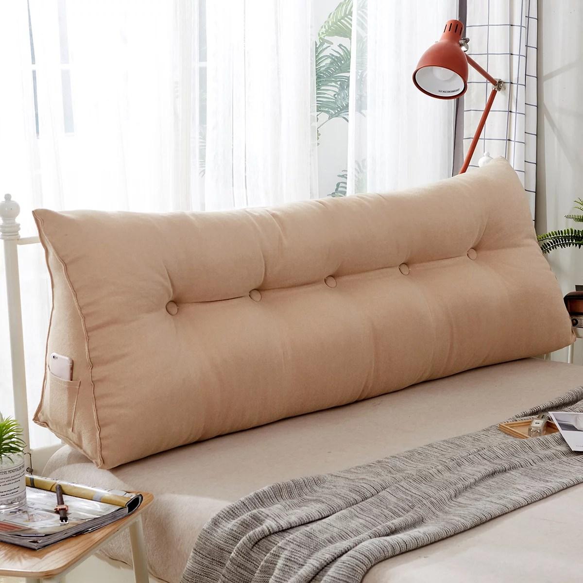 Multi Color Wedge Triangular Pillow Cushion Bedside Pillow Bed Backrest Positioning Support Pillow Reading Pillow Office Lumbar Pad Soft Adjustable Walmart Com Walmart Com