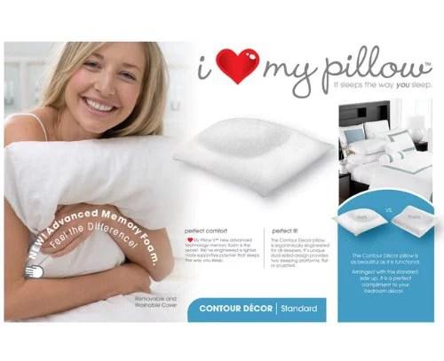 i love my pillow king size contour pillow